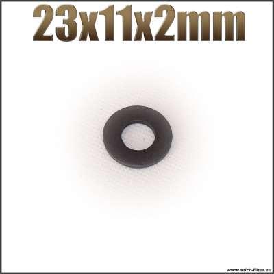 Dichtung 23x11x2mm schwarz flach EPDM Gummidichtung für Schlauchtüllen