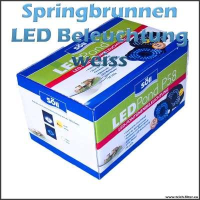 12V LED Springbrunnen Beleuchtung Söll P58 weiss