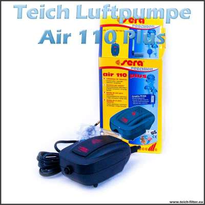 Sera Air 110 Plus Luftpumpe für Teich und Aquarium