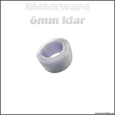 Meterware Schlauch 6mm klar transparent