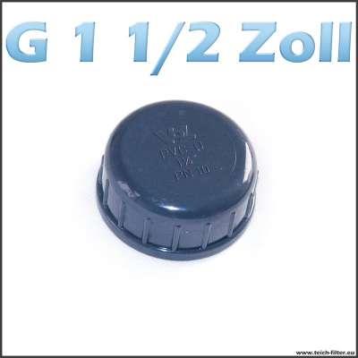 G 1 1/2 Zoll Verschlusskappe aus Plastik für Teichfilter