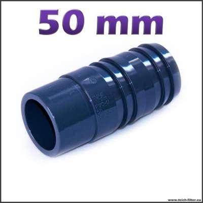 50 mm Schlauchtülle mit 2 Zoll Anschluss für Spiralschlauch