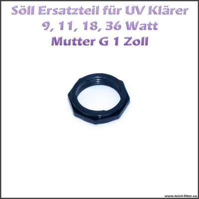 15249 Ersatzteil Mutter G 1 Zoll für Söll UV Klärer