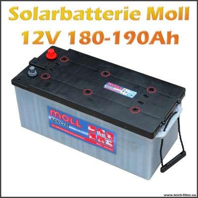 Preisgünstige Solarbatterie 12V von Moll mit 180-190Ah für Wohnwagen und Garten