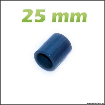 25 mm Muffe als Verbinder aus PVC Kunststoff