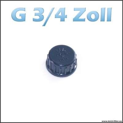 G 3/4 Zoll Verschlusskappe mit Dichtung