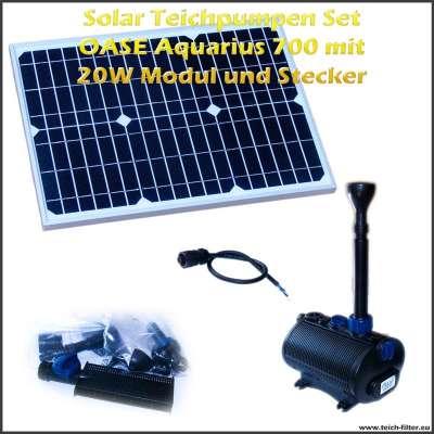 Solar Teichpumpen Set 12V 700 mit 20 Watt Modul