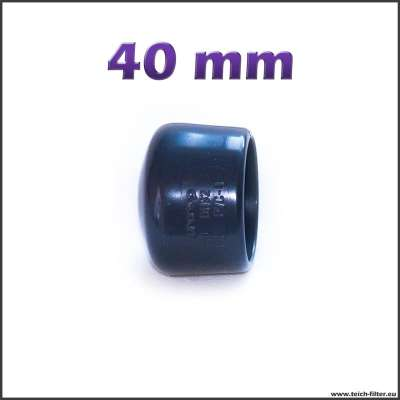 40 mm Endkappe aus Plastik für Rohre