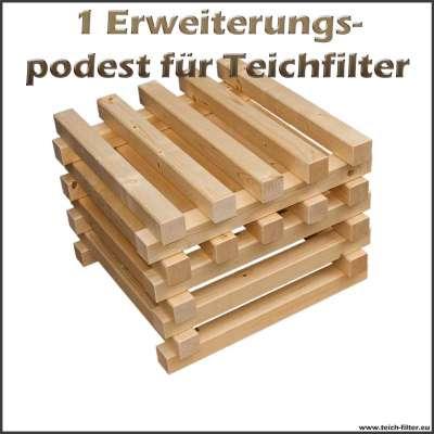 1 Holzpodest als Erweiterung für unseren Teichfilter bis 50000l
