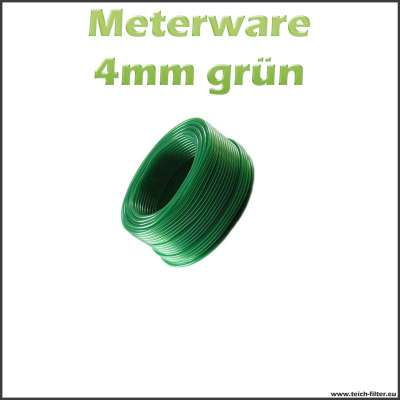 Luftschlauch grün 4 mm Meterware