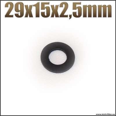 Dichtung 29x15x2,5mm schwarz flach EPDM Gummidichtung für Schlauchtüllen