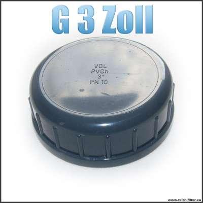 G 3 Zoll VDL Verschlusskappe mit Dichtung und Innengewinde