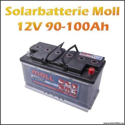 Solarbatterie 90-100Ah 12V von Moll für Solar Inselanlagen im Wohnmobil
