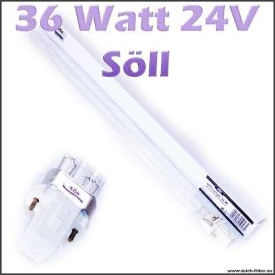 36 Watt 24V UV Lampe Söll für UV-C Wasserklärer