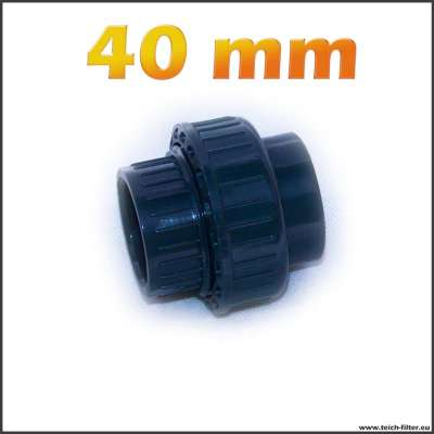 40 mm Verschraubung aus Kunststoff für Teich