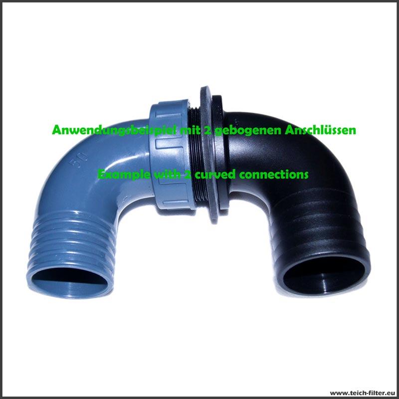 32mm Überlaufbogen mit PVC-U Mutter