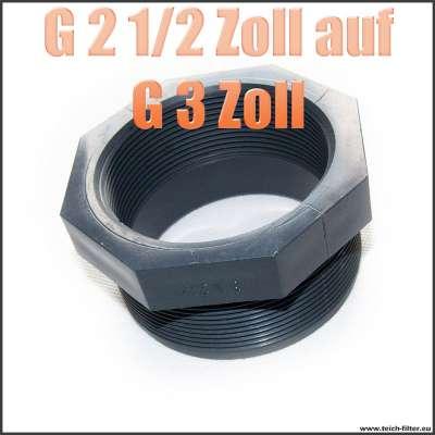 Gewindeadapter G 2 1/2 Zoll Innengewinde auf G 3 Zoll Aussengewinde