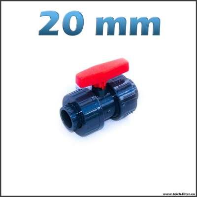 Kugelhahn mit 20 mm Klebemuffen