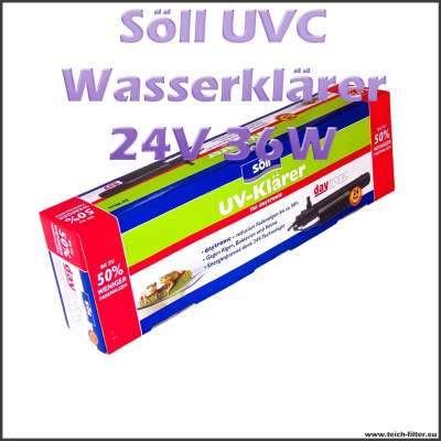 36 Watt 24V UVC Wasserklärer Söll mit Daytronic für Teichfilter bis 30000 Liter