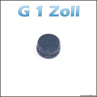 G 1 Zoll Verschlusskappe aus PVC von VDL