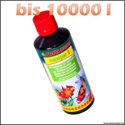 500 ml Sera Omnipur S gegen bakterielle Infektionen bei Fischen bis 10000 l Wasser