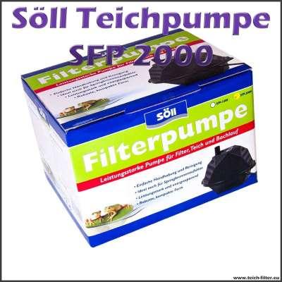 Söll SFP 2000 Teichpumpe für Teichfilter bis 5000 Liter