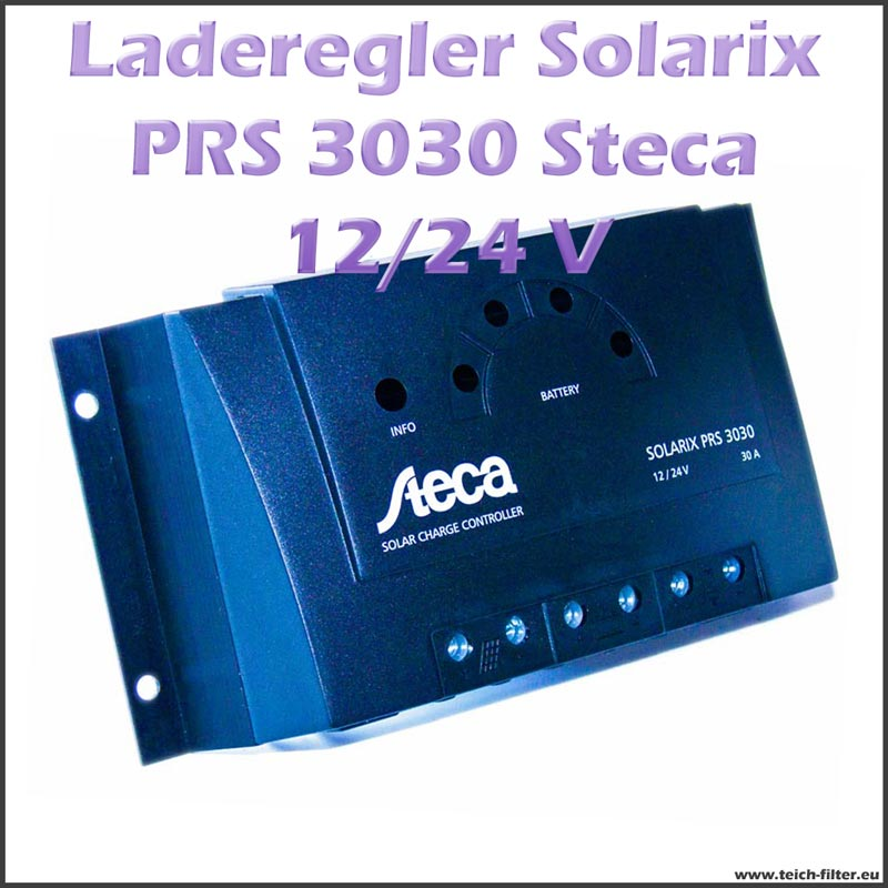 steca solar laderegler 12v 24v 30a solarix prs 3030 pwm. Black Bedroom Furniture Sets. Home Design Ideas