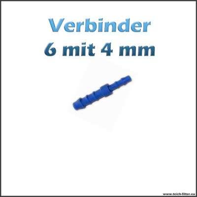 Verbinder aus Plastik für 4 und 6 mm Luftschlauch