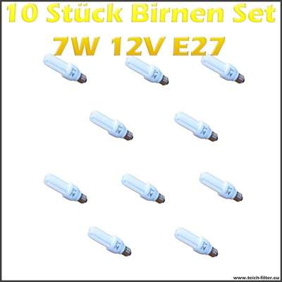 10 st ck set birnen 7w 12v e27 f r solaranlage g nstig kaufen. Black Bedroom Furniture Sets. Home Design Ideas
