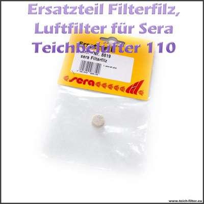 Ersatzteil 08819 Filterfilz als Luftfilter für Sera Pond Air 110 Plus Teichbelüfter