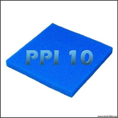 Filterschwamm grob mit 50 x 50 x 5 cm in PPI 10 für Teiche