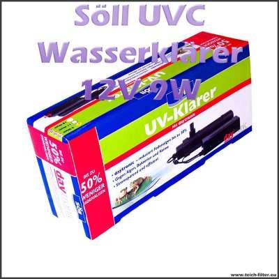 9 Watt 12V UVC Wasserklärer von Söll mit Daytronic gegen Fadenalgen