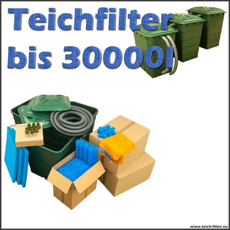 teichfilter 30000 liter ohne pumpe und uvc. Black Bedroom Furniture Sets. Home Design Ideas
