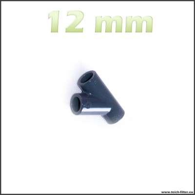 12 mm Y-Verteiler mit 45 Grad Winkel für Gartenschlauch