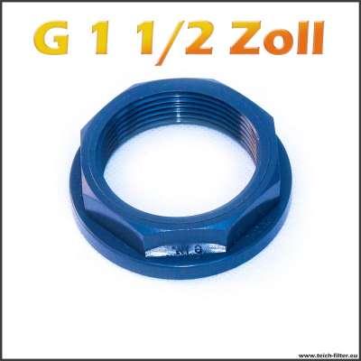 G 1 1/2 Zoll Mutter aus PVC Kunststoff von VDL für Teichfilter und Anschlüsse