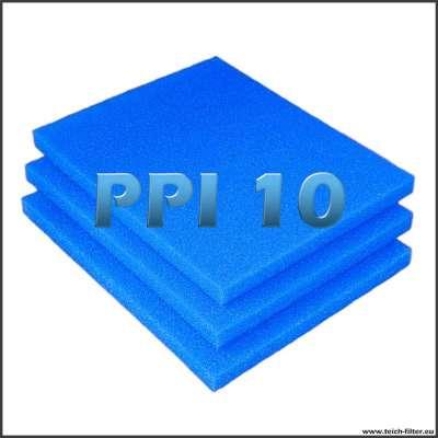 3 Filtermatten 10 PPI mit je 75 x 60 x 5 cm für Regentonnen und Teichwasser