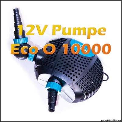 Teichpumpe 12V Eco O-Plus LV 10000 mit Trafo für Schwimmteich und Skimmer