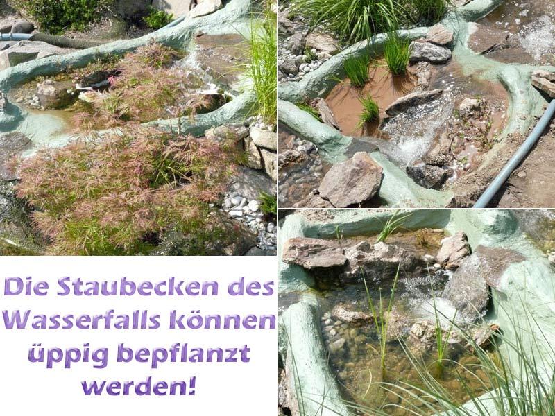 wasserfall-bilder-mit-teichpflanzen