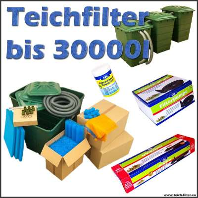 teichfilter 30000 liter s ll mit pumpe und uvc. Black Bedroom Furniture Sets. Home Design Ideas