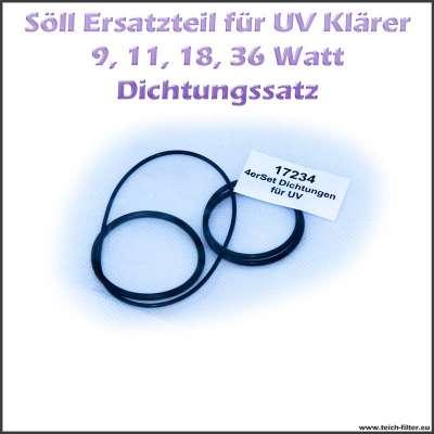 17234 Dichtungssatz mit O-Ringen für das Gehäuse der Söll UV Klärer