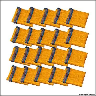20 Stück Set mit 100l Beuteln für Filtermaterial im Teichfilter