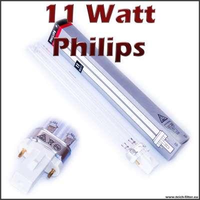 11 Watt Philips UV Lampe für Teich und Aquaristik