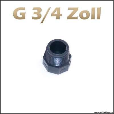 G 3/4 Zoll Verschlussstopfen, Gewindestopfen aus Kunststoff