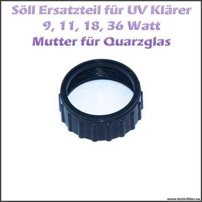 Ersatzteil 16656 Mutter für Quarzgläser am Söll UV Klärer