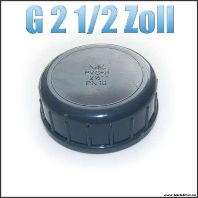 G 2 1/2 Zoll VDL Verschlusskappe mit Dichtung und Innengewinde