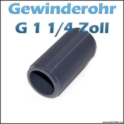 Gewinderohr als Hülse aus PVC Kunststoff mit G 1 1/4 Zoll Aussengewinde als Tankdurchführung