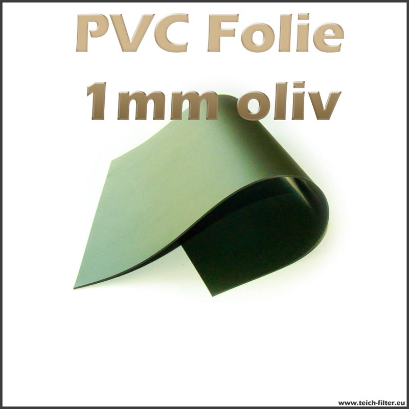 6m breite x 1mm dicke pvc teichfolie oliv gr n. Black Bedroom Furniture Sets. Home Design Ideas
