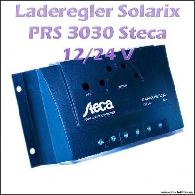 Steca Solar Laderegler Solarix PRS 3030 für 12V bis 24V und 30A mit PWM Technologie