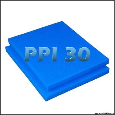 2 mal Filterschaumstoff PPI 30 mit je 75 x 60 x 5 cm