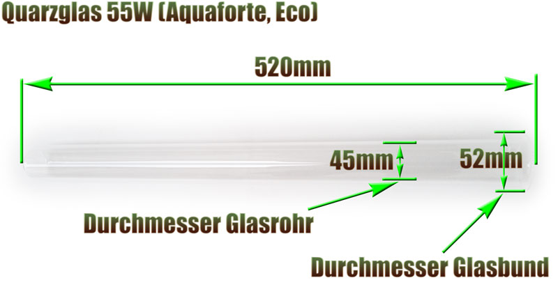 quarzglas-eco-aquaforte-55w-uvc-klaerer-ersatz-abmessung-520mm-laenge-glasrohr
